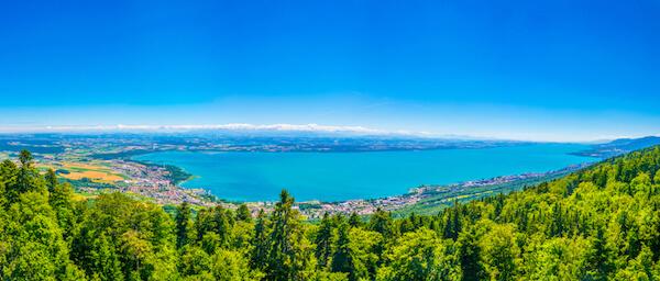 Lake Neuchatel in Switzerland