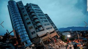 Taiwan Earthquake - image by Richie B Tongo