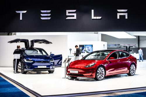 Tesla Cars at Expo 2019 - image by GrzegorzCzapski