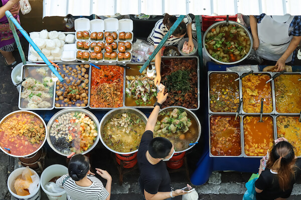 Street food stall in Thailand