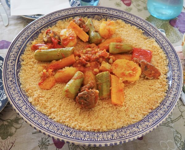 Traditional couscous dish in Tunisia