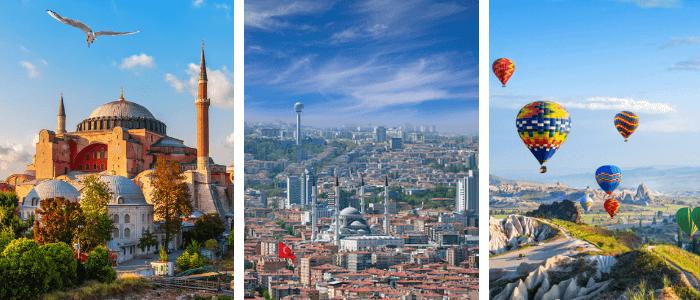 Turkey Facts on Kids World Travel Guide - Hagia Sophia, Ankara, Cappadocia
