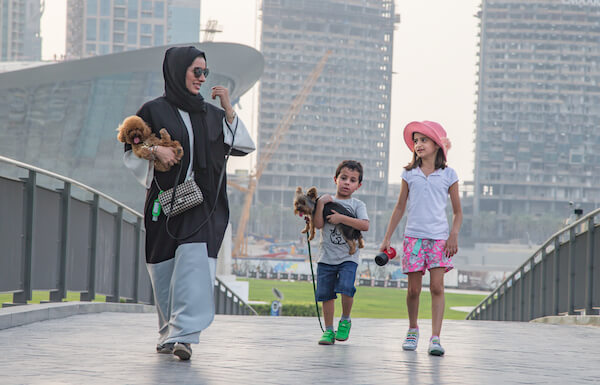 Woman and kids in Dubai - image by Katie KK/shutterstock.com