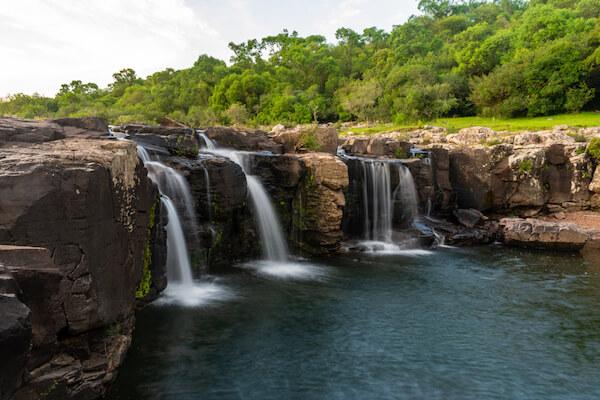 Waterfalls in Lunarejo Valley in Uruguay