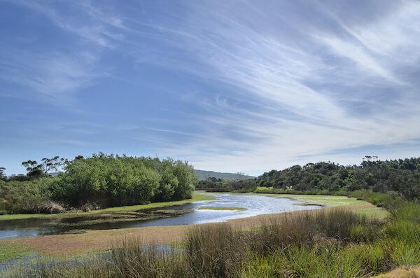 Maldonado stream in southern Uruguay