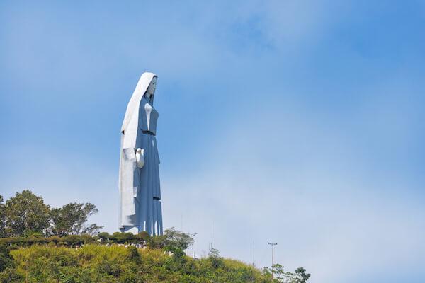Statue of Peace Virgin Mary in Trujillo in Venezuela - image by Paolo Costa/shutterstock