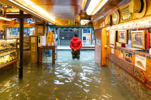 Flooded bakery in Venice in 2019 - image by Ihor Serdyukov /shutterstock.com