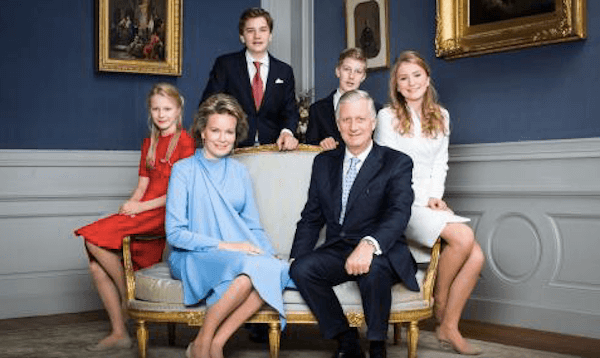 Belgium's royal family - official photo from monarchie.be