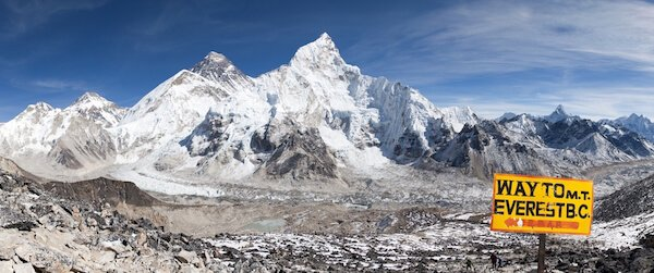 Mount Everest and Khumbu Glacier