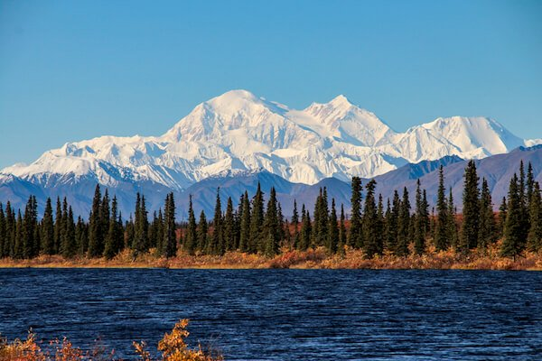 Mount Denali is the highest mountain in North America