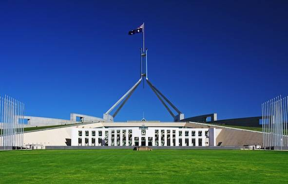 Australian parliament buildings in Canberra