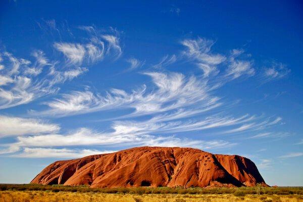 Australia's Uluru  is the largest single rock in the world