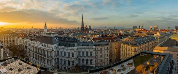 Panoramic view of Vienna - Vienna is Austria's capital city