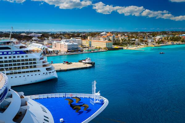 Many Cruise ships reach the Bahamas