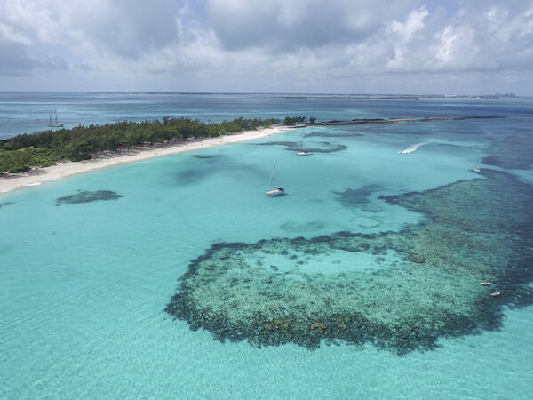 The Bahamas are coral islands - stunning reef