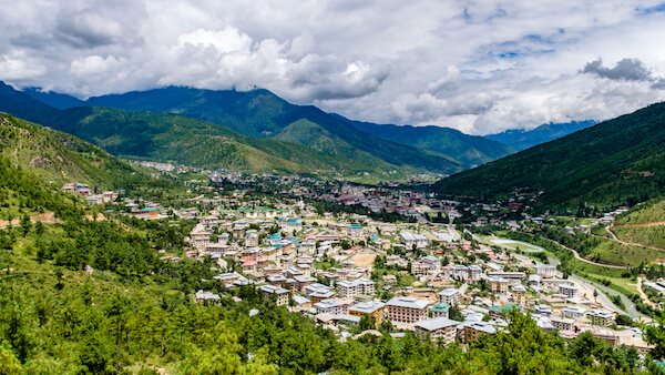Bhutan's capital city Thimphu - shutterstock.com
