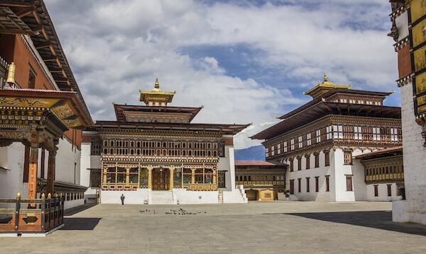 Thimphu fortress Tashichho Dzong