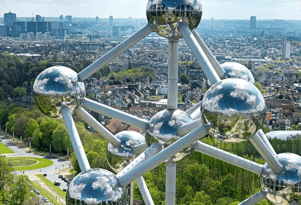 The Atomium in Brussels is one of the most famous landmarks of Belgium