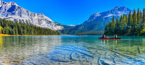 Emerald Lake in Canada's Yoho National Park