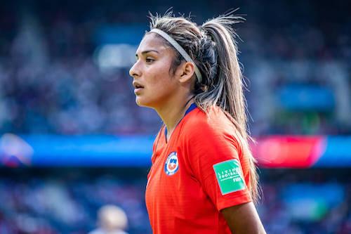 Javiera Toro of the Chilean women's national soccerteam