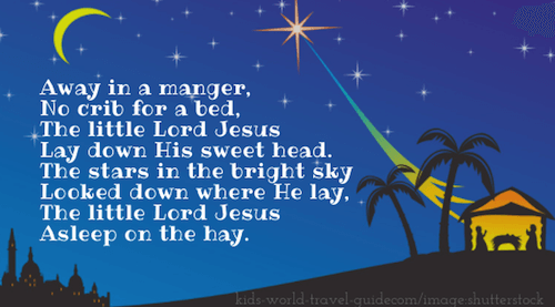 Christmas Poems for Kids: Away in a Manger