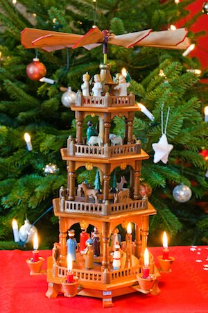 German christmas pyramid - image shutter stock