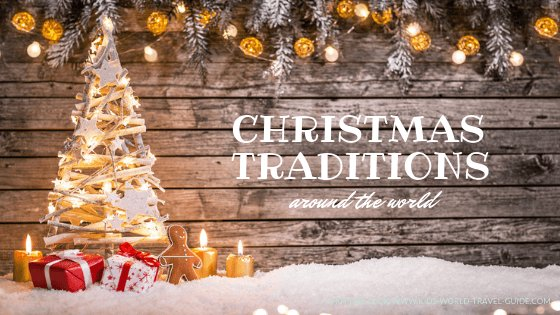 christmas decoration and tree in snow - christmas traditions all over the world - image by shutterstock