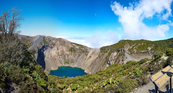 Volcán Irazú is Costa Rica's highest volcano.