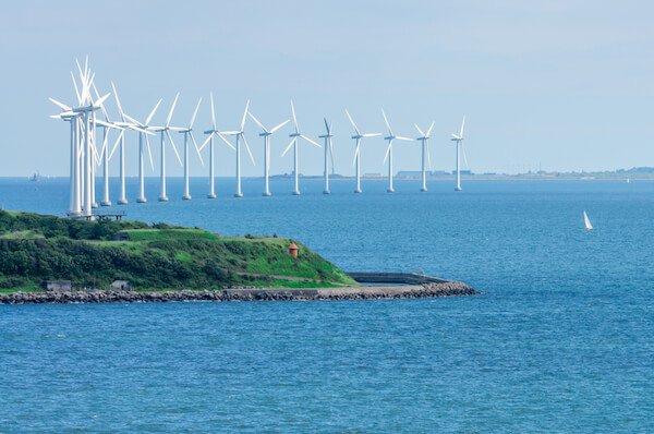 Denmark offshore wind farm near Copenhagen