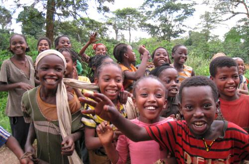 Ethiopian kids - image by Dan Giveon/shutterstock.com