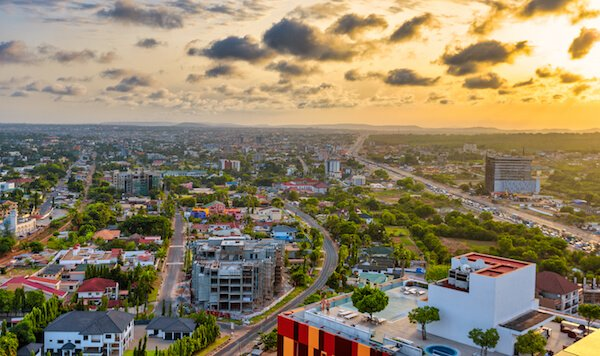 Accra - Ghana's capital city - image by Truba7113/shutterstock