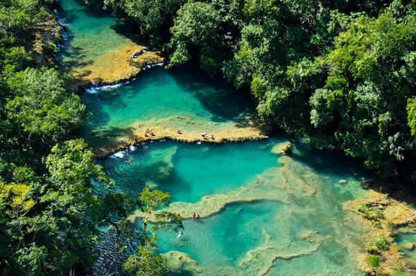 Semuc Champey turquoise pools in Guatemala