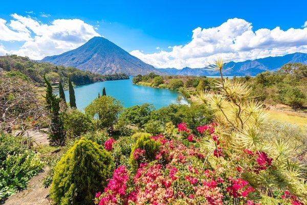 Scenery at Lake Atitlan in Guatemala