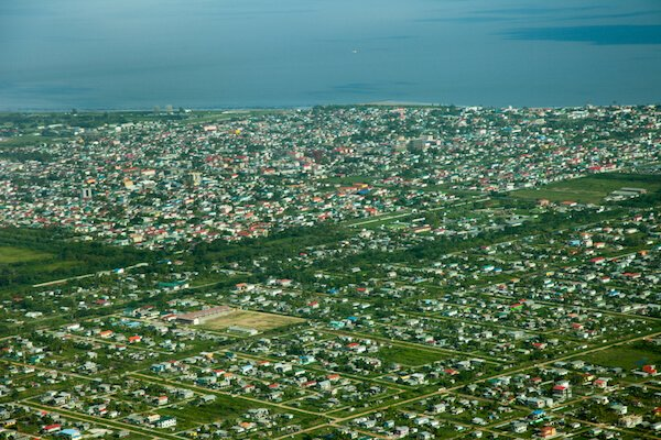Aerial of Georgetown in Guyana - image by Victor1153/shutterstock