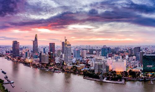 Ho Chi Minh City arial view - shutterstock.com
