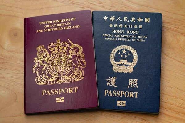 Hong Kong passport and UK passport