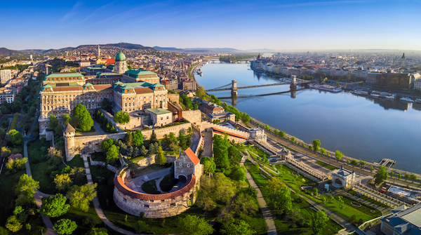 Castle hill in Budapest/Hungary