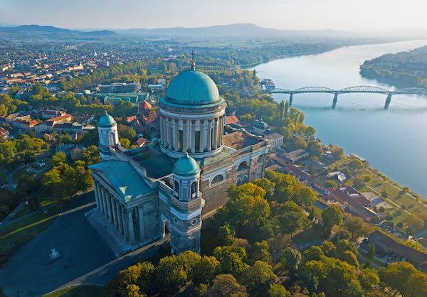 Basilika of Esztergom overlooking the Danube River
