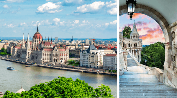 Hungary: Parliament in Budapest and Fishermen's Bastion