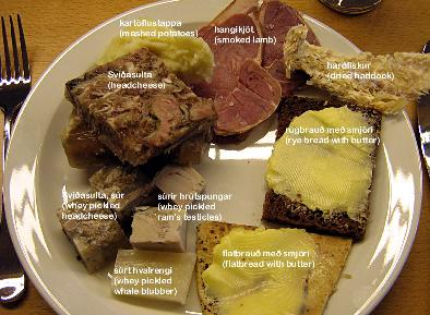 Typical Icelandic food