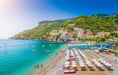 Italian Beach resort on the Amalfi coast