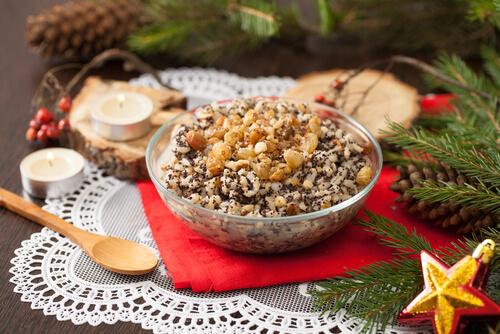 Russian Christmas food Kutia