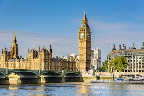 Big Ben and Houses of Parliament are European Landmarks