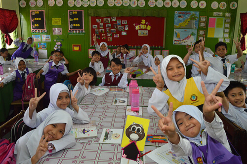Malaysian schoolkids - image by Sonya SooYon/shutterstock.com