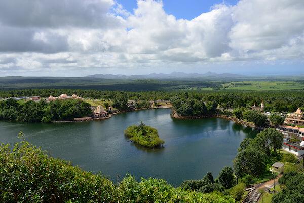 Grand Bassin lake in Mauritius