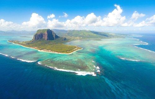 Mauritius island with Morne Brabant