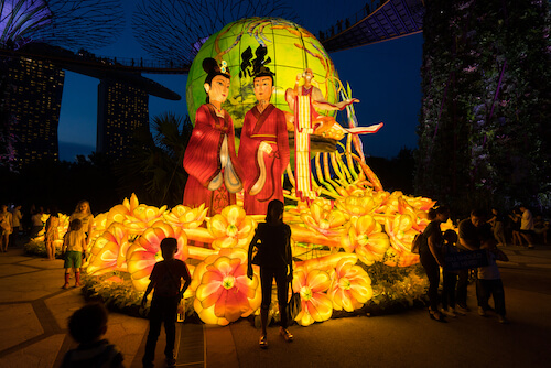 Singapore Mid-autumn festival at Gardens on the Bay - image by Sam's Studio/Shutterstock.com