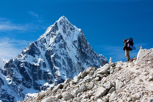 Mount Everest is the highest mountain in Asia