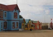 Namibia Luederitz colourful houses
