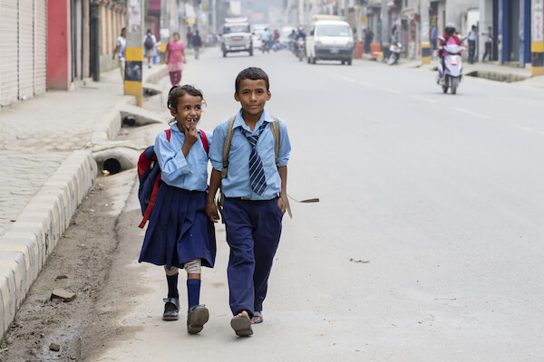 School kids in Nepal - image by Olga D/shutterstock.com